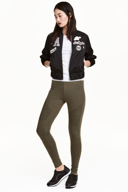 Jersey biker leggings