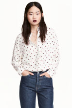 Viscose shirt - White/Heart - Ladies | H&M CN 1