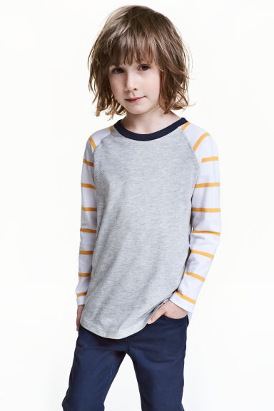 Jersey top - Grey marl - Kids | H&M CN 1