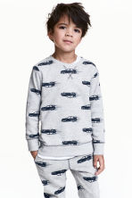 Sweatshirt - Grey/Cars - Kids | H&M 1