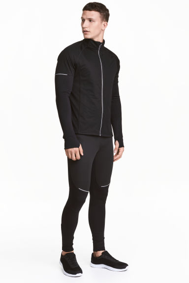Winter running tights - Black - Men | H&M 1