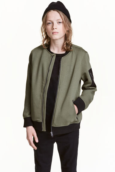 Bomber jacket - Khaki green - Kids | H&M CN