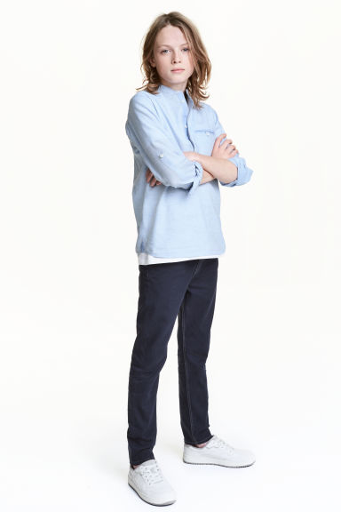 Twill trousers Slim fit - Dark blue - Kids | H&M CN 1