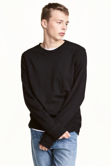 Sweatshirt - Black -  | H&M 1