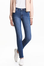 Slim Regular Jeans - Denim blue/Worn - Ladies | H&M GB 1