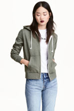 Hooded jacket - Green marl -  | H&M CA 2