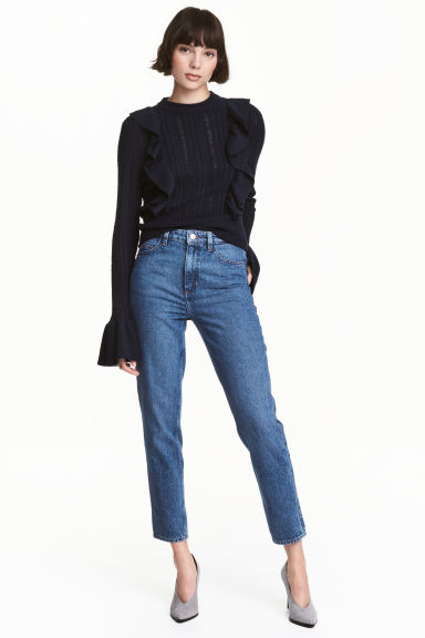 Straight High Jeans - Denim blue -  | H&M GB 1