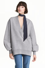 Oversized sweatshirt - Grey marl - Ladies | H&M CN 1