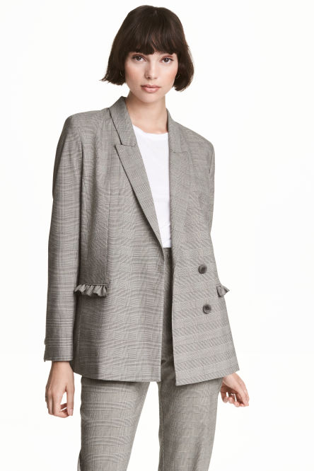 Jacket with frill details