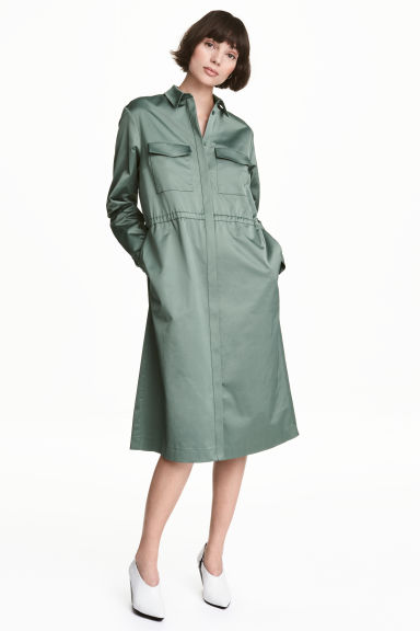 Shirt dress - Green - Ladies | H&M 1
