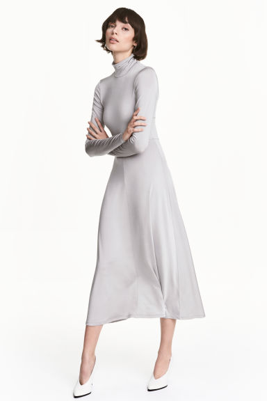 圓高領長洋裝 - Light grey - Ladies | H&M 1