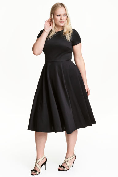 H&M+ Dress in scuba fabric - Black - Ladies | H&M 1