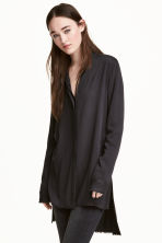 Shirt with fringe trims - Black - Ladies | H&M 1