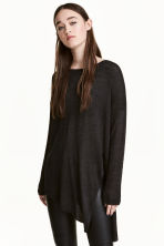 Loose-knit jumper - Black - Ladies | H&M CN 1