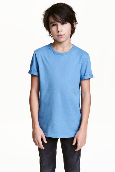 Cotton T-shirt - Light blue - Kids | H&M 1