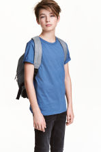 Cotton T-shirt - Blue - Kids | H&M CN 1