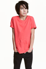 Cotton T-shirt - Light red -  | H&M 1