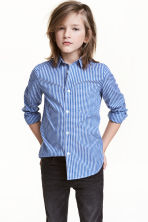 Easy-iron shirt  - Blue/Checked -  | H&M CA 1