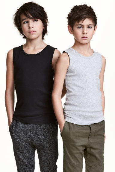 2-pack vest tops - Black - Kids | H&M CN 1