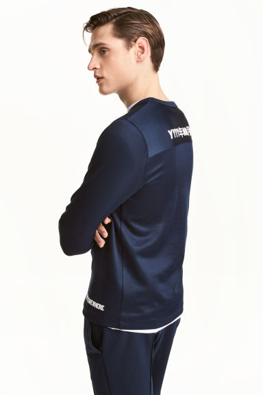 Sports top - Dark blue - Men | H&M CN 1