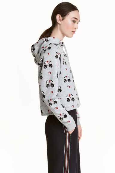 Short hooded top - Grey/Panda - Ladies | H&M CN 1