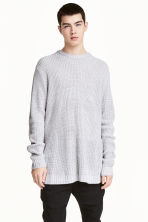 Ribbed jumper - Light grey marl - Men | H&M CN 1