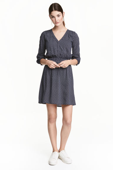 MAMA Nursing dress - Dark blue/Patterned - Ladies | H&M 1