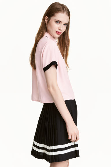 Viscose blouse - Light pink - Ladies | H&M CN 1