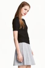 Ribbed top - Black - Ladies | H&M CA 1