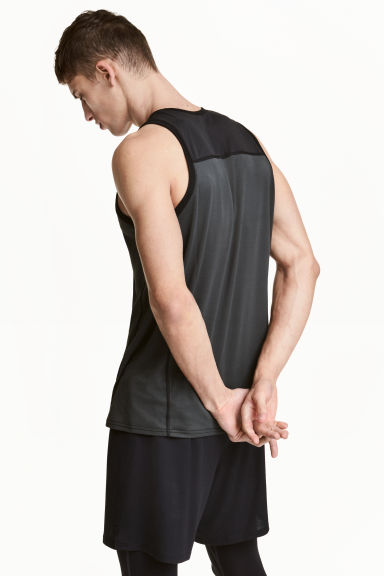 Sports vest top - Dark grey - Men | H&M CN 1