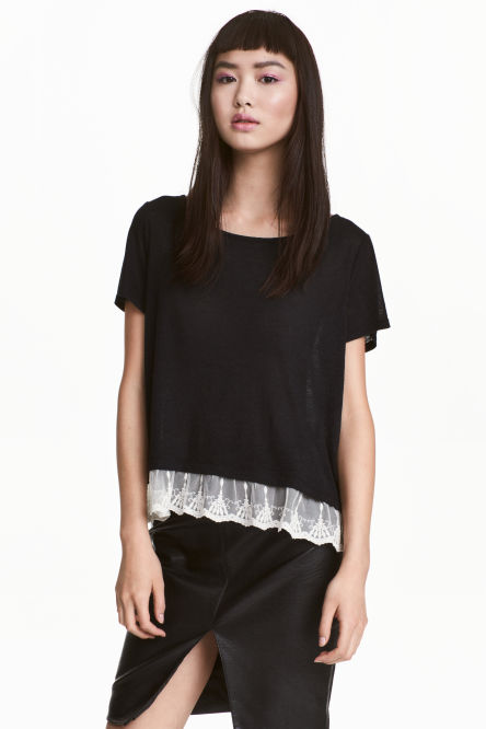 Top with a lace trim