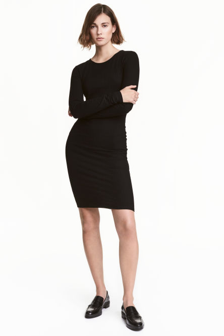 Ribbed jersey dress