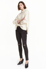 Skinny Regular Jeans - Nearly black - DAMES | H&M BE 2
