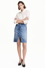 Denim skirt - Denim blue -  | H&M GB 1