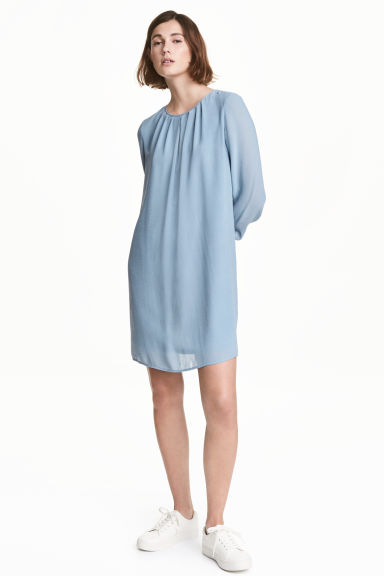 Chiffon dress - Light blue -  | H&M CN