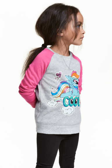 Sweatshirt with a motif - Grey/My Little Pony - Kids | H&M CA 1