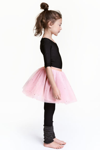 Glittery tulle skirt - Light pink/Glittery - Kids | H&M CN