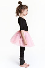 Tulle skirt with glitter - Light pink - Kids | H&M 1