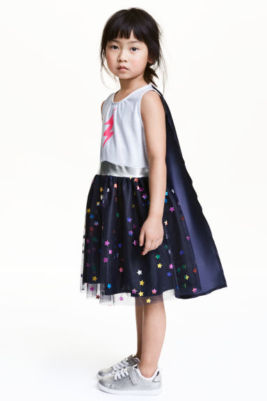Costume con mantello - Blu scuro/stelle - BAMBINO | H&M IT 1
