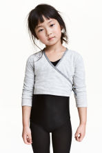 Dance top - Light grey marl - Kids | H&M 1