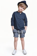 Twill shorts - Dark denim blue - Kids | H&M 1
