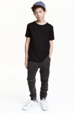 Joggers - Black washed out -  | H&M CN 1