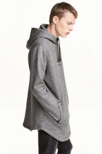 Long hooded top - Dark grey marl - Men | H&M CN 1