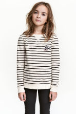 Sweatshirt - Natural white/Striped - Kids | H&M CN 1