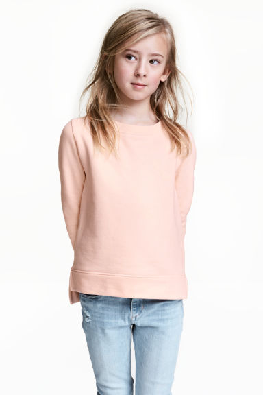 運動衫 - Powder pink -  | H&M 1