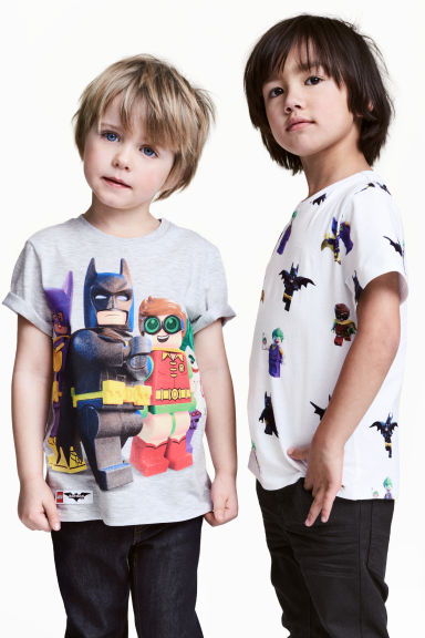 2-pack T-shirts - White/Lego - Kids | H&M 1