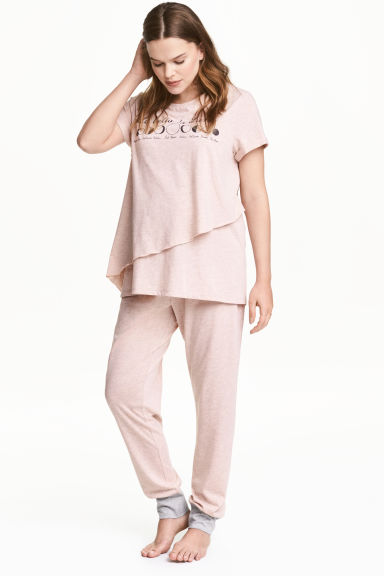 MAMA Nursing pyjamas - Old rose - Ladies | H&M CN 1