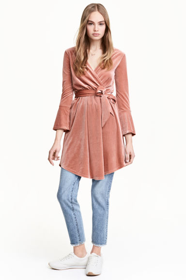 Wrapover dress - Rose - Ladies | H&M