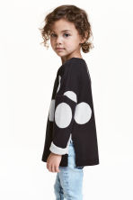 Fine-knit jumper - Black/Spotted -  | H&M 1