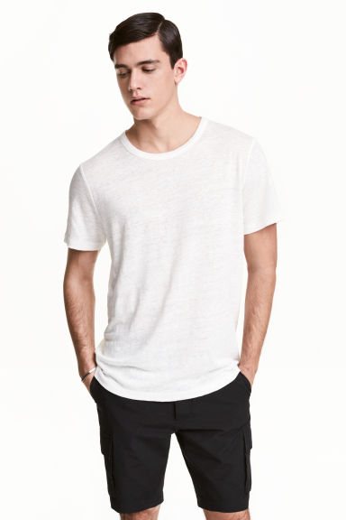 亞麻T恤 - White - Men | H&M 1